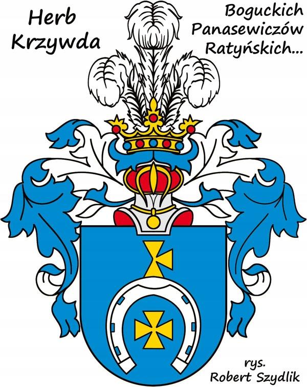 HERB SZLACHECKI KRZYWDA , 21 x 30 cm ( wzór )