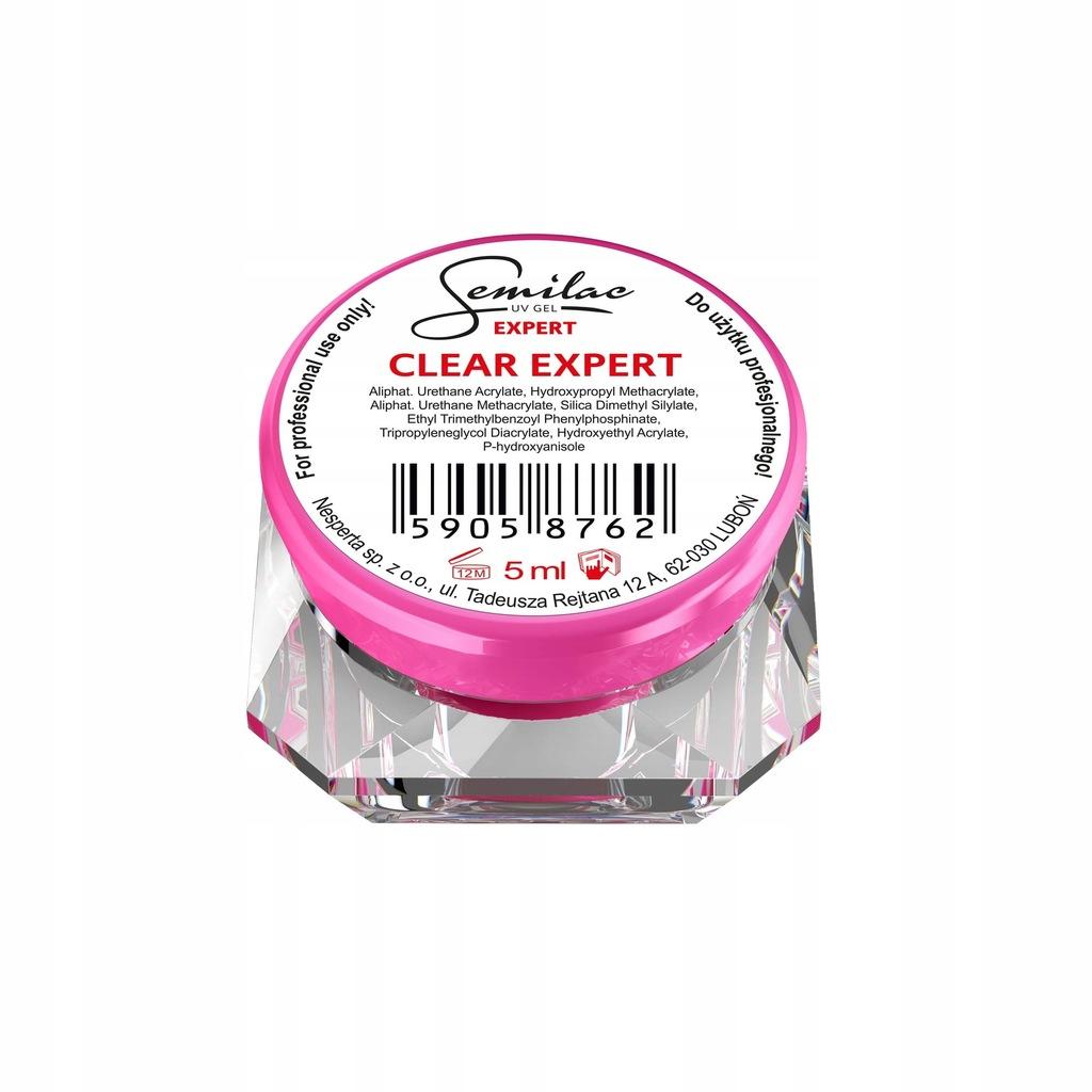 Semilac żel lakier żelowy UV Gel Expert Clear 5ml