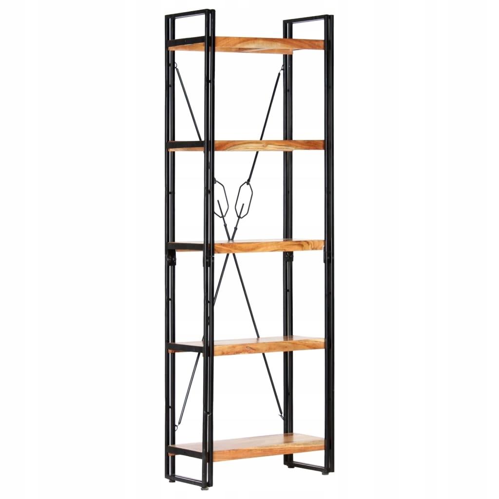 5-poziomowy regał na książki, 60x30x180 cm, drewno