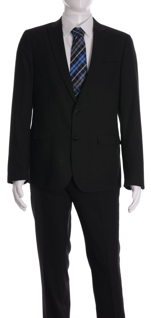 ASOS czrny garnitur w rzucik r. 52