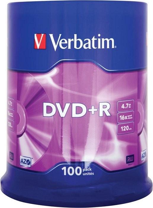 7GC25 PŁYTY VERBATIM DVD+R 4,7GB 16x Cake 100sztuk
