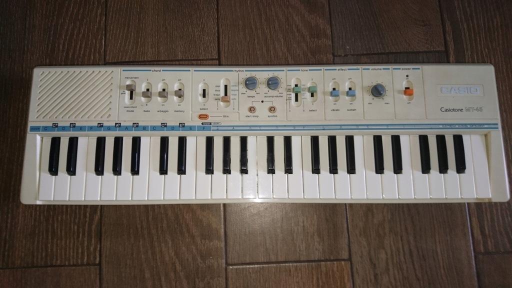 Organy keyboard casio casiotone mt 45