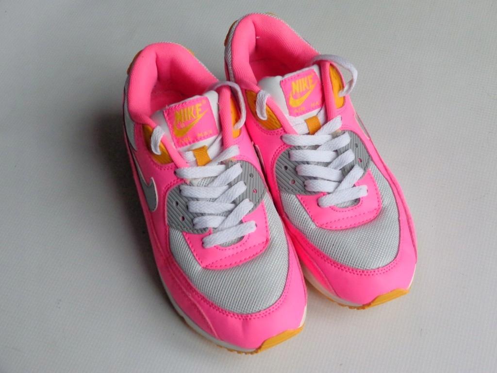 Buty Nike Air Max 90 Damskie Leather RóżowyBiałySzary