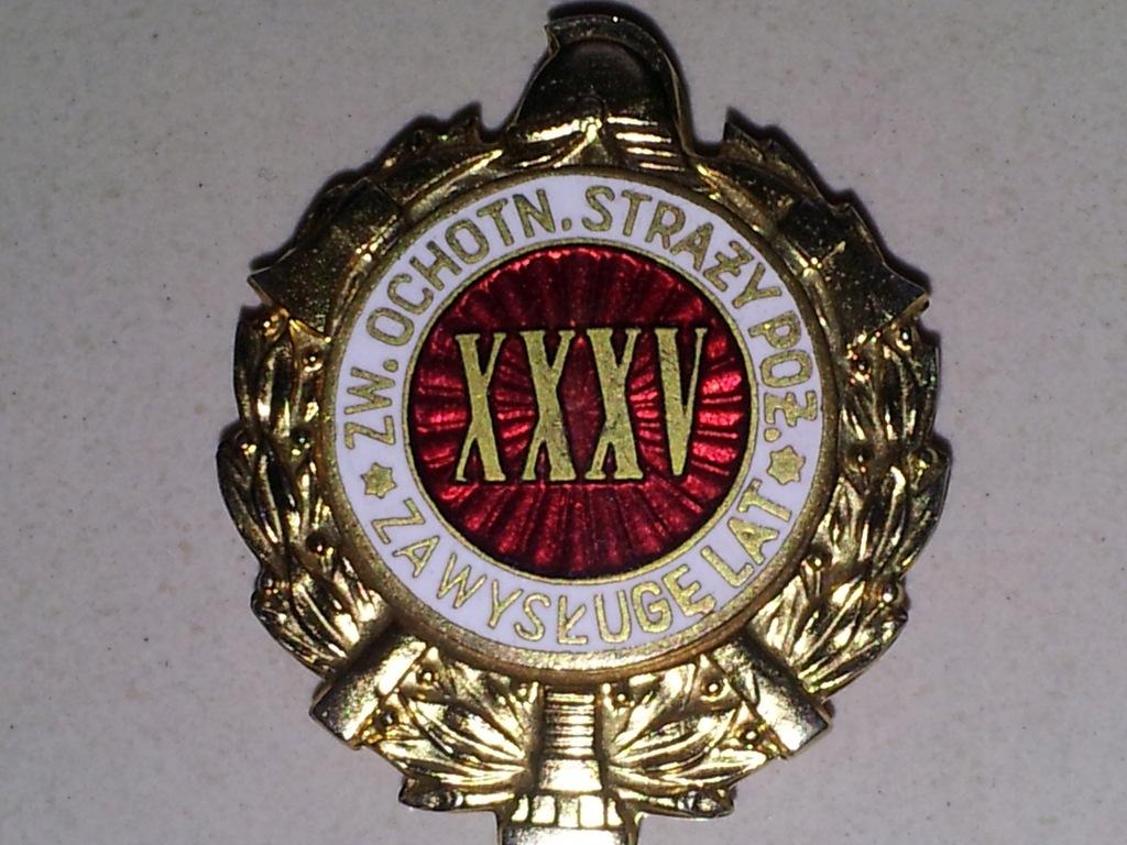 Za Wysługę XXXV Lat w OSP ciemna emalia 1959-1989