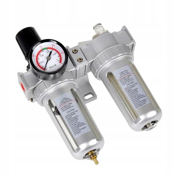 "Reduktor ciśnienia z filtrem 1/4"" i naolejacz"