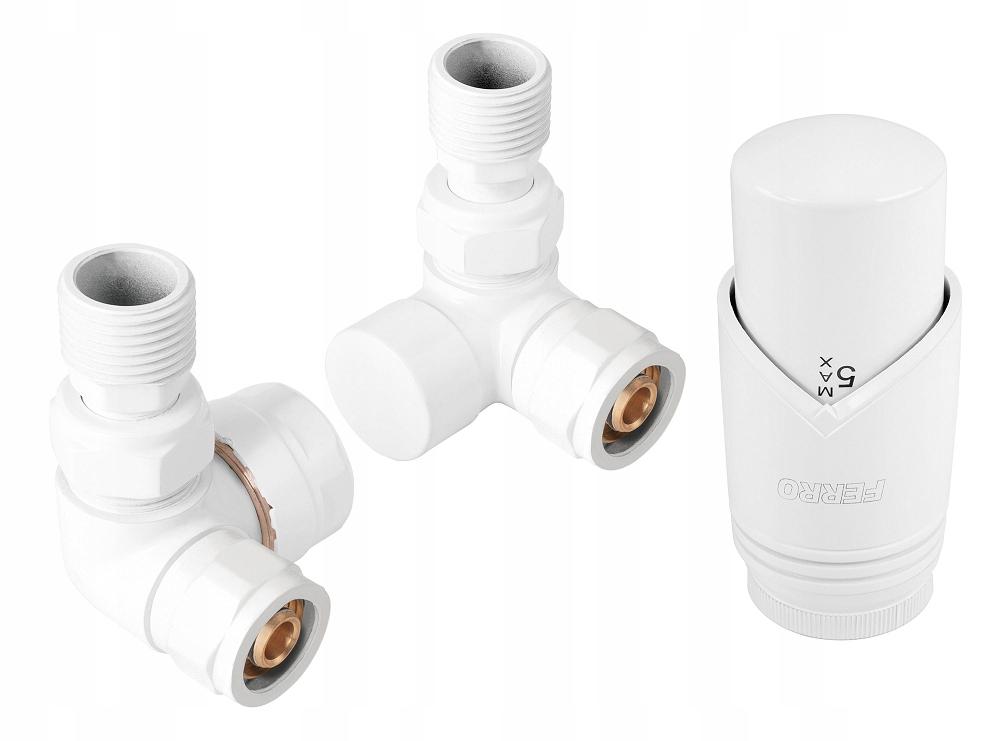 Ferro zestaw termostatyczny osiowy biały ZTO30WH