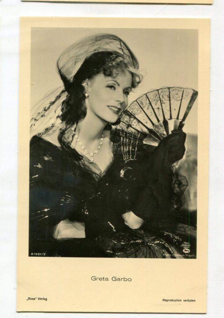 Greta Garbo Kino Film Aktorka Foto Pocztówka 29
