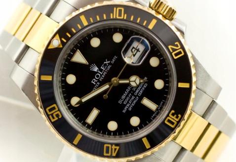 ROLEX SUBMARINER DATE GOLD/STEEL 40MM 116613LN