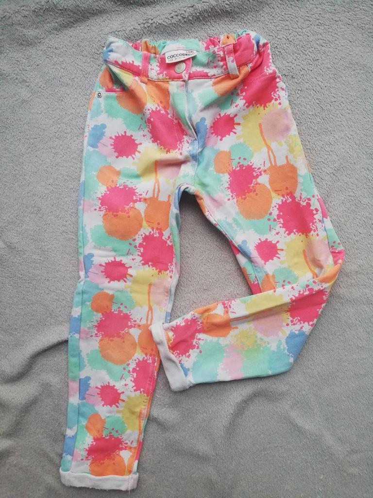 Spodnie Coccodrillo kolorowe 116