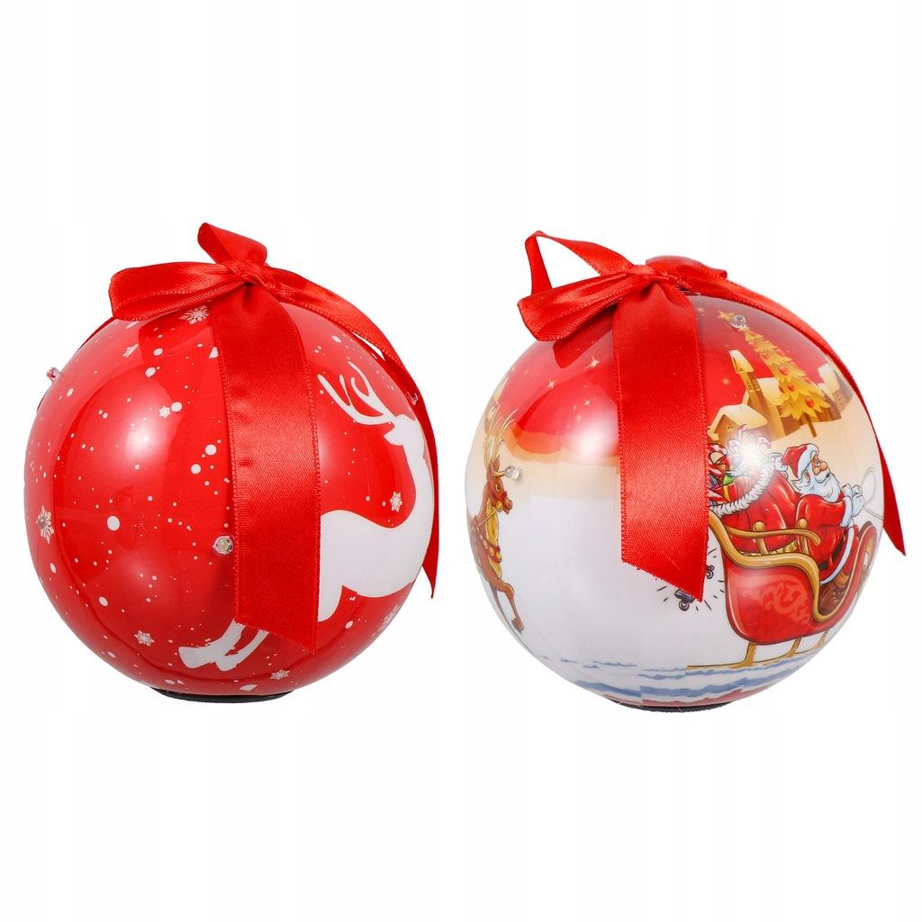 2 szt. Świąteczne bombki Piękne dekoracje balowe Z