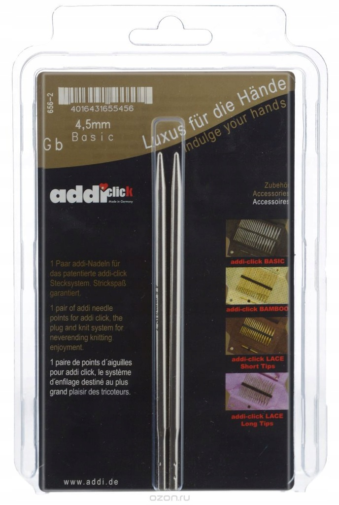 Addi Click 4,5 druty wymienne