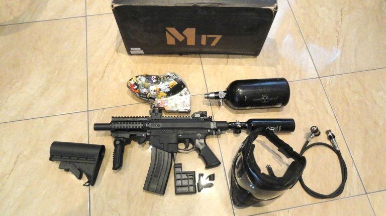 MARKER DO PAINTBALLA MILSIG M17 SMG MEGA DODATKI