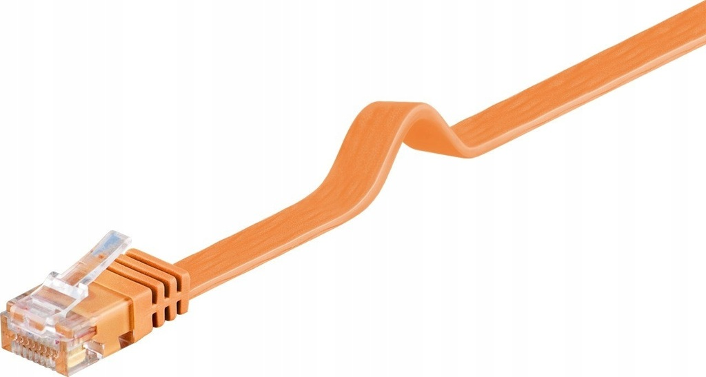 Kabel LAN Patchcord CAT 6 U/UTP PŁASKI orange 1,5m