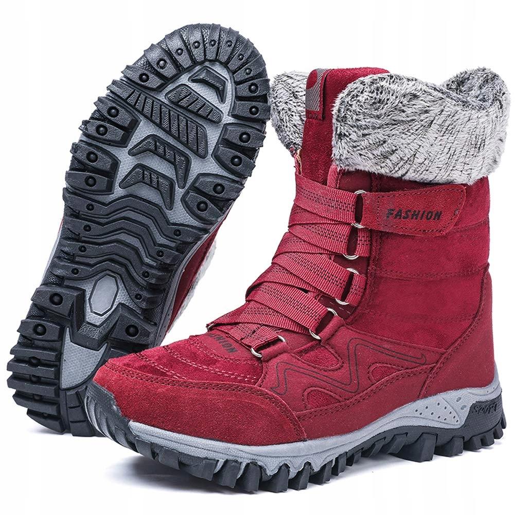 Zimowe buty Ciepłe Trapery Kozak Antypoślizg r.38