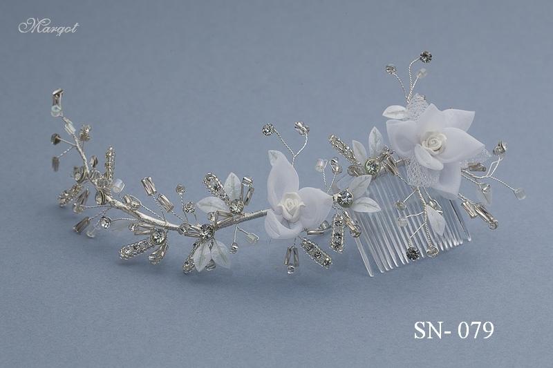Stroik ślubny SN079 - fryzury ślubnej, głowę