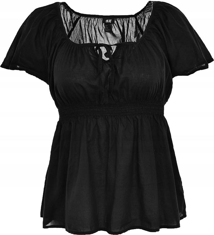 mAI5167 H&M czarna bluzka, wiązany dekolt 44