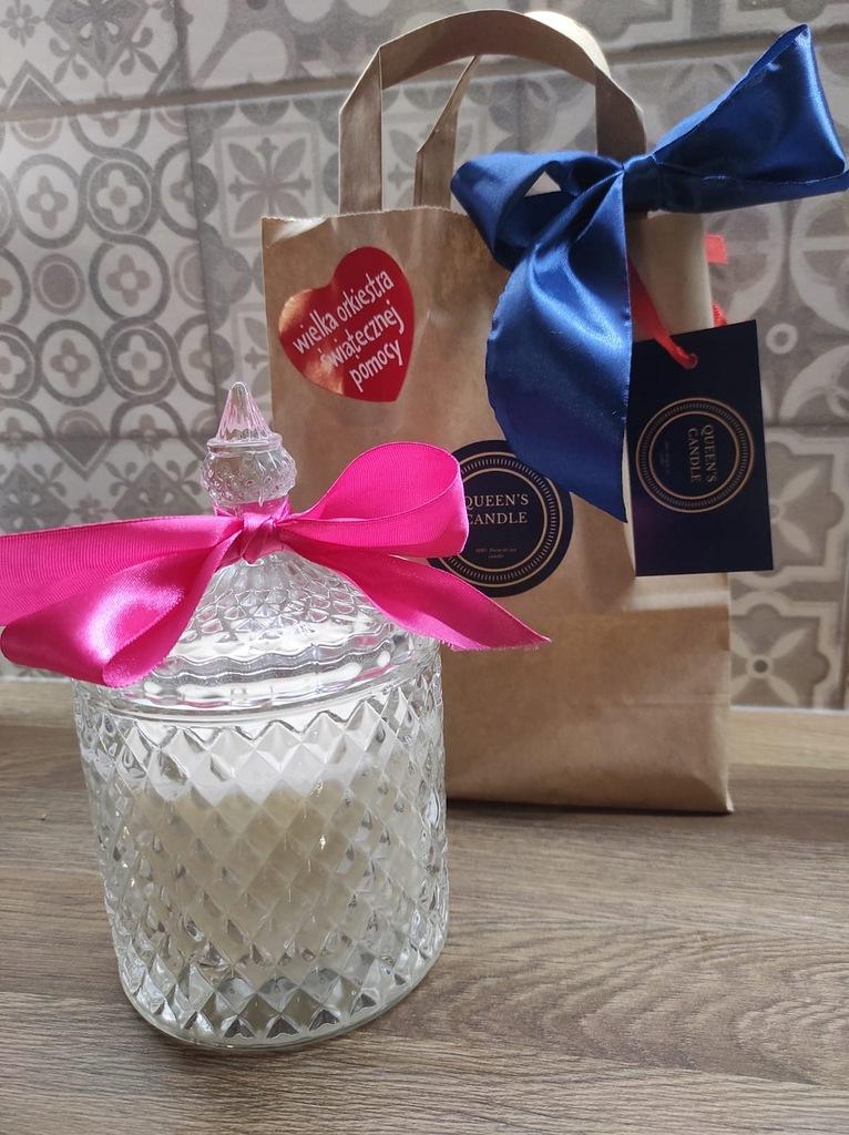Naturalna duża świeca sojowa - 100% handmade