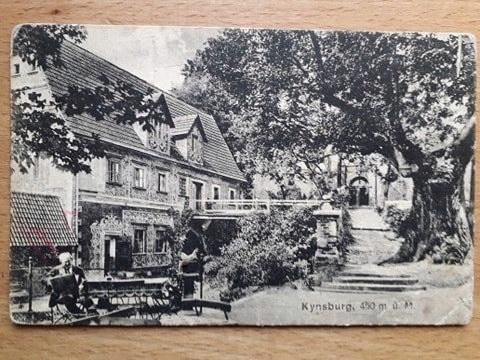 ZAGÓRZE ŚLĄSKIE zamek GRODNO Kynsburg 1929r