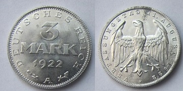 Niemcy 3 Marki 1922 A