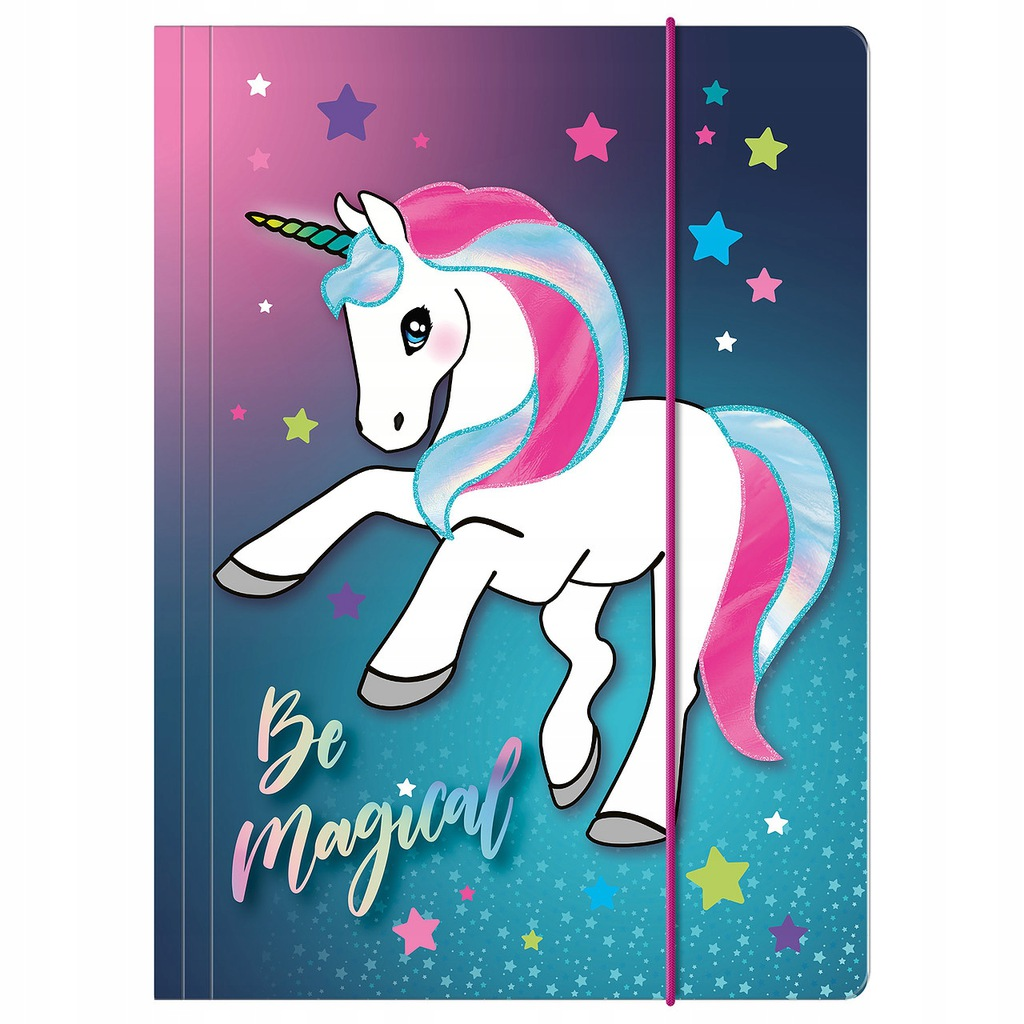 Naklejki na zeszyty Unicorn z jednorożcem MIX