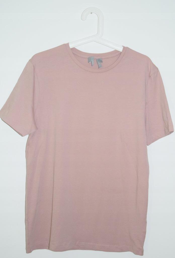 cos t-shirt bawełna pudrowy róż r. S