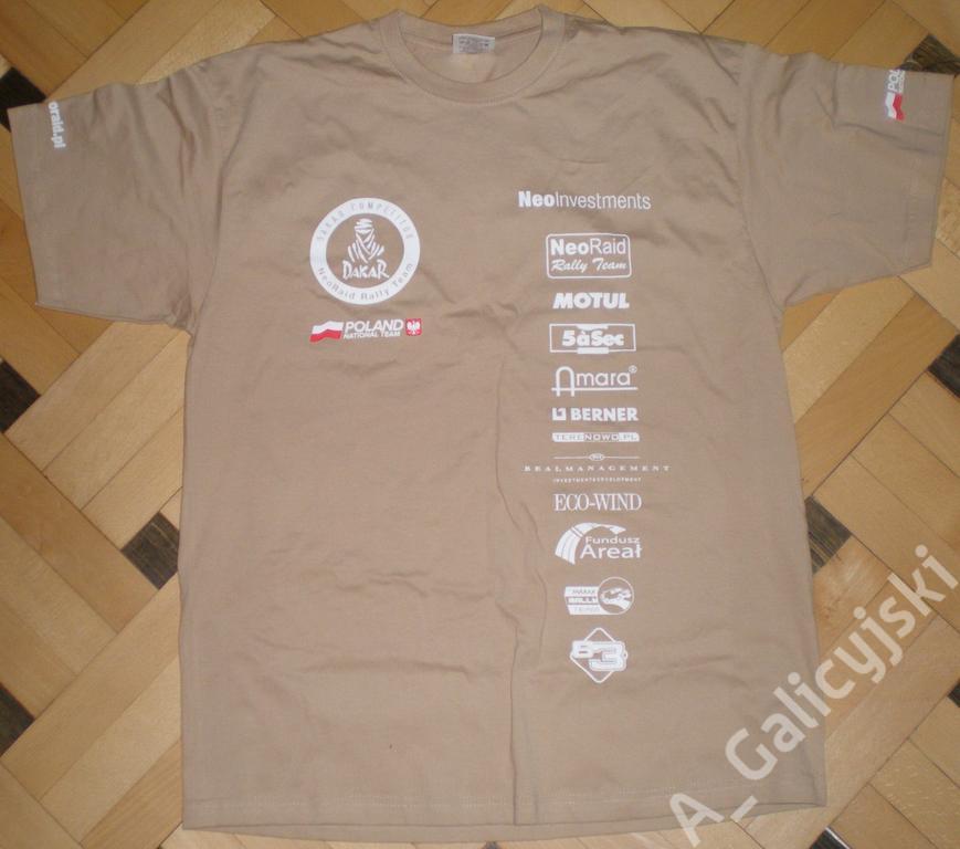 DAKAR 2013 - koszulka NeoRaid Rally Team roz. M