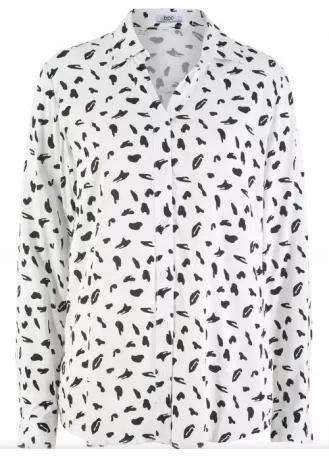 Bluzka Bonprix biała we wzory nowa rozmiar 44