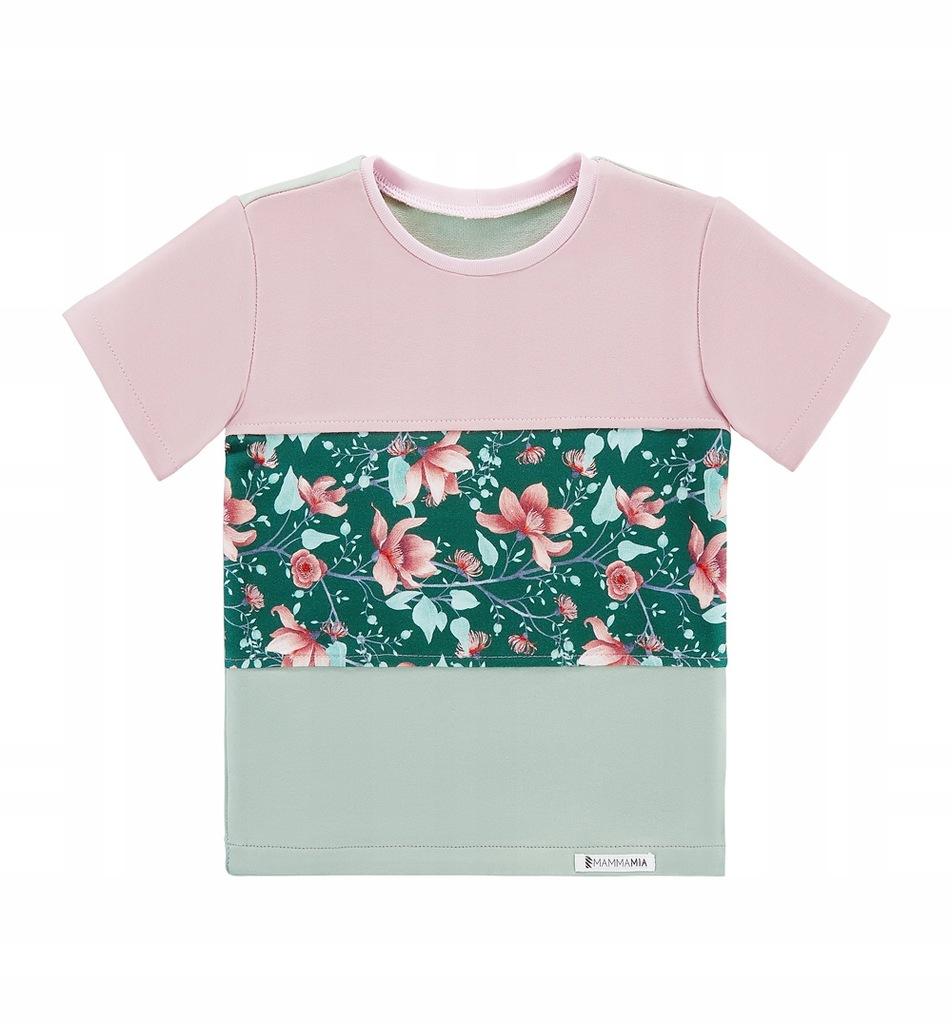 TuSzyte | T-Shirt w kwiaty, bawełniany PL R.134