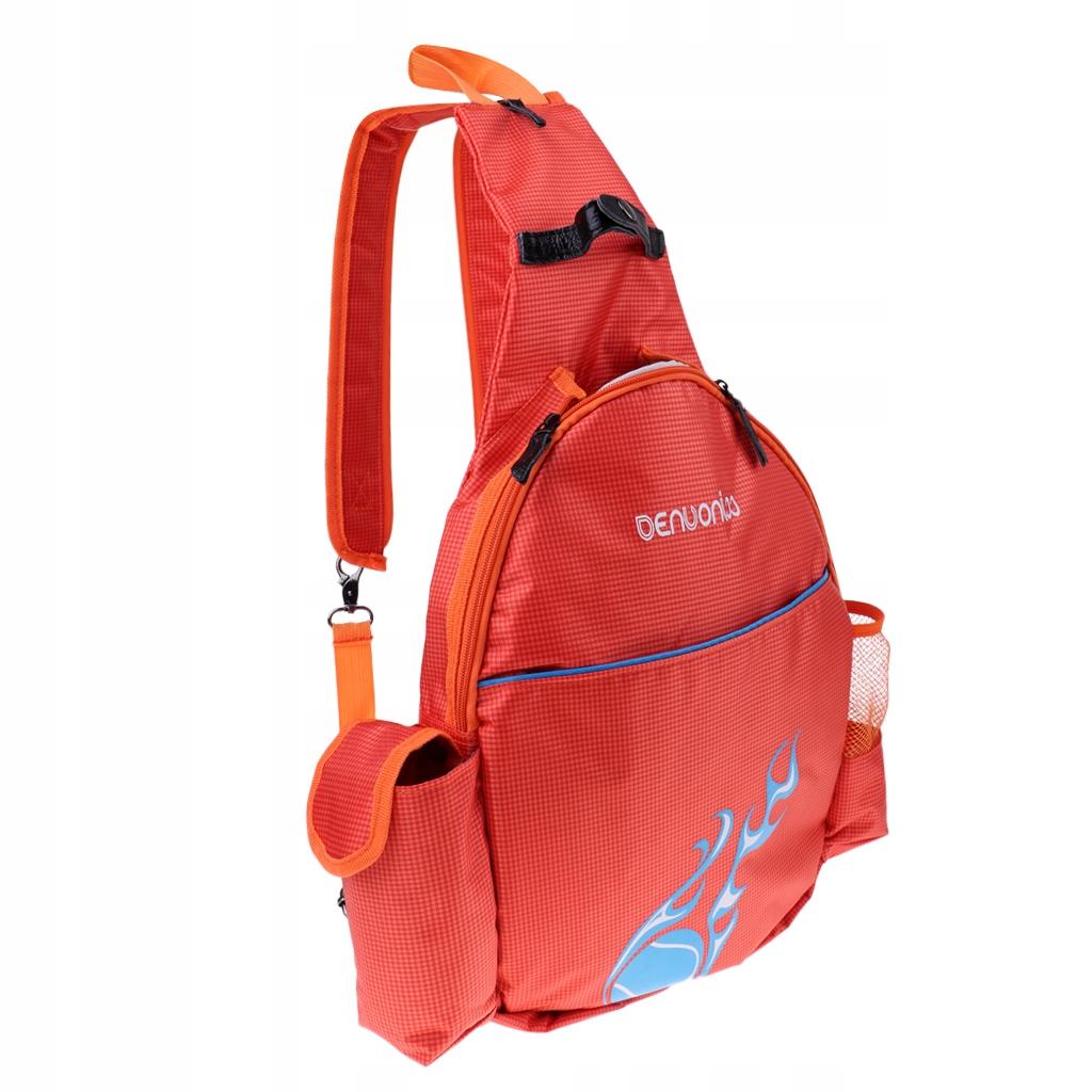 Plecak z 1 rakietą tenisową - Pomarańczowy
