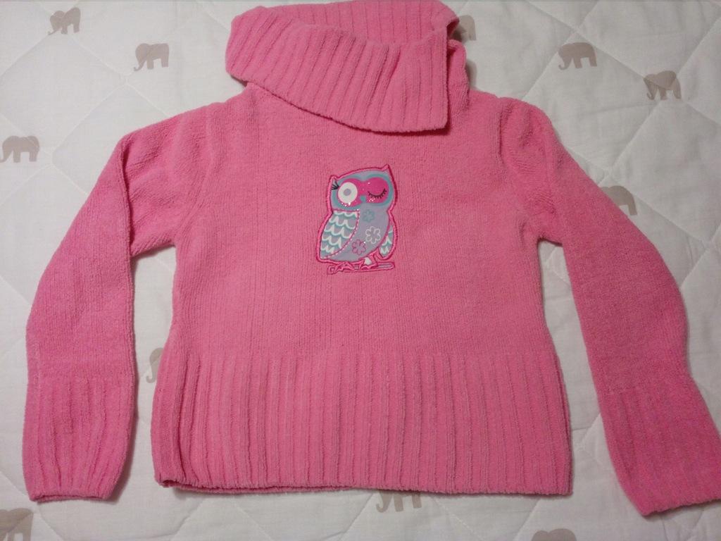 Sweterek różowy dla dziewczynki Lupilu 110-116