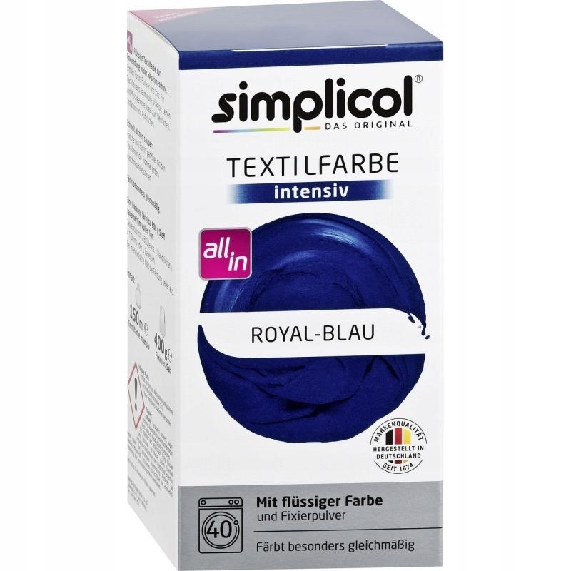 SIMPLICOL Barwnik do tkanin Niebieski Kobaltowy
