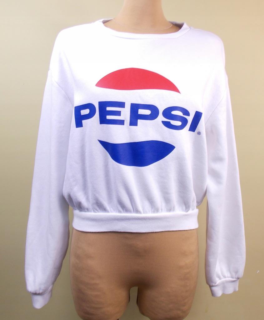 bluza sportowa H&M PEPSI biała krótka 38