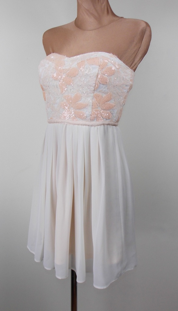 sukienka ASOS elegancka zwiewna cekiny WESELE 36
