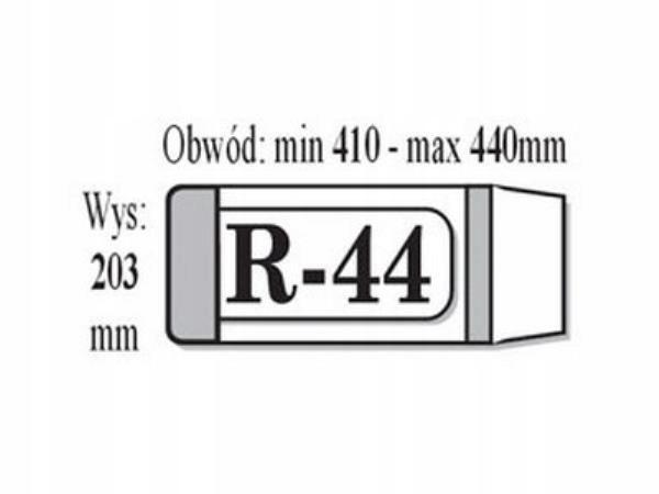 Okładki na książki regulowane R44 IKS (1szt.)