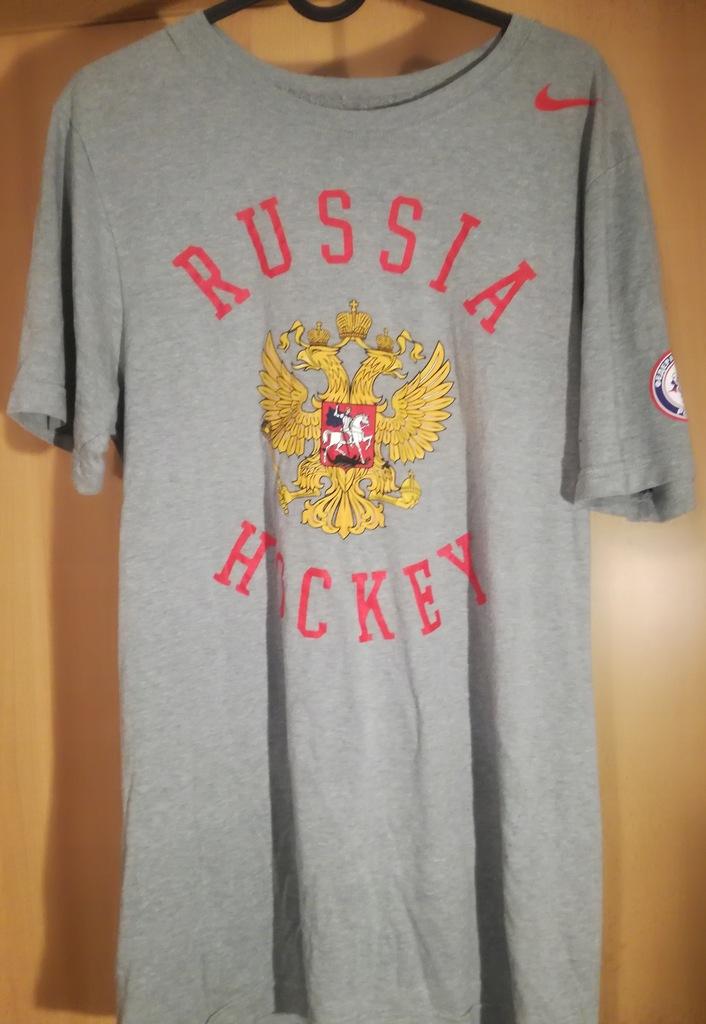 Koszulka t-shirt hokej Nike Russia roz S/M