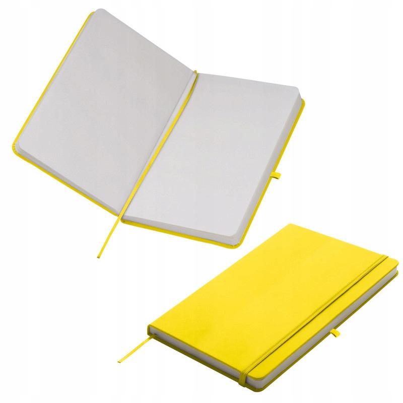 NOTES A5 Z GUMKĄ - żółty karton 50szt.
