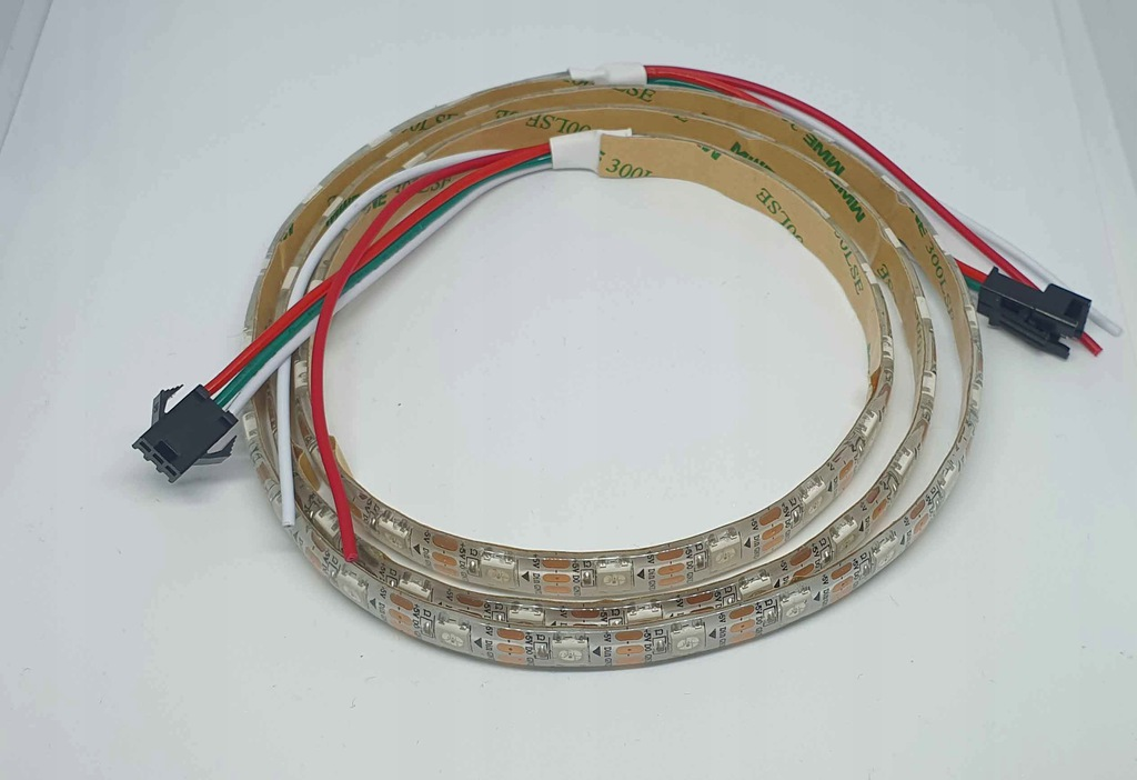 Taśma LED - WS2812B - Cyfrowe diody, 1m, 60LED