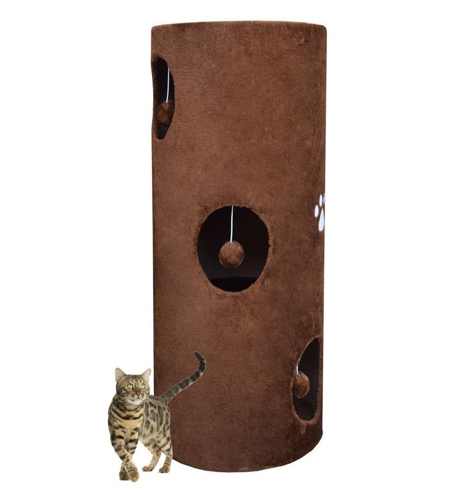 Drapak/Tuba/ Wieża dla Kota 100cm Brązowy S