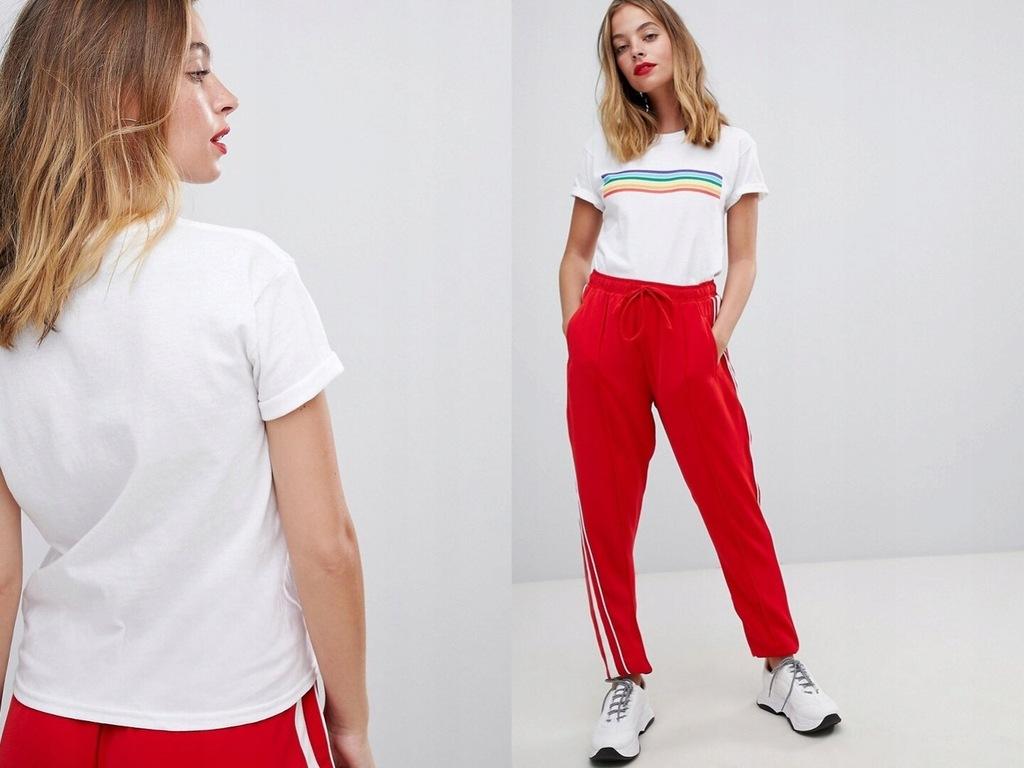 Boohoo T-shirt z kolorowymi paskami L