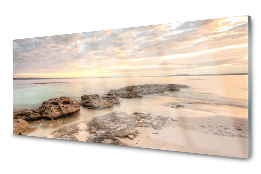 Lacobel Panel Szklany Ścienny Morze Dekor 120x60