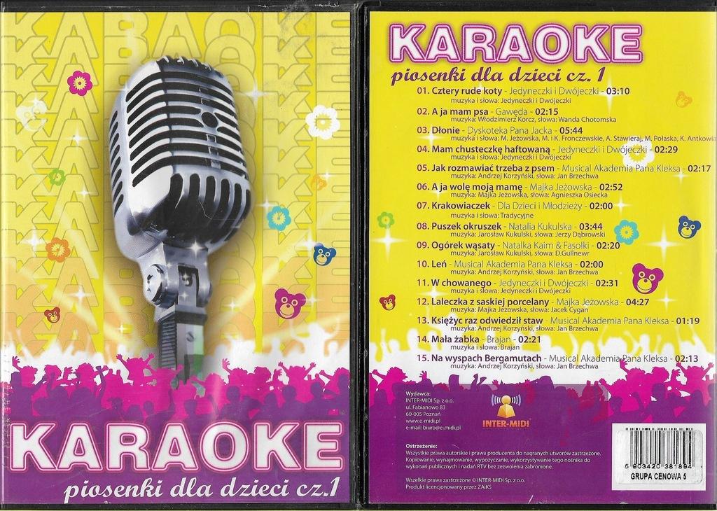 Karaoke - Piosenki dla dzieci cz.1 DVD