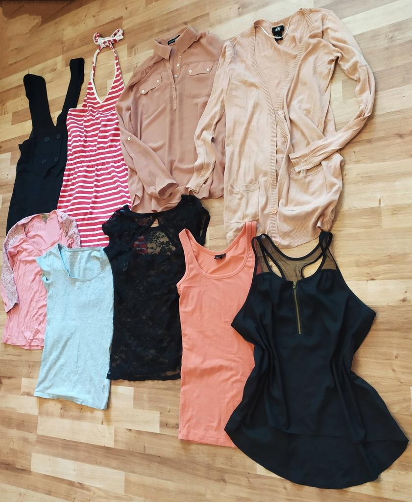 Paka paczka ubrań 34 36 S zestaw H&M letnich