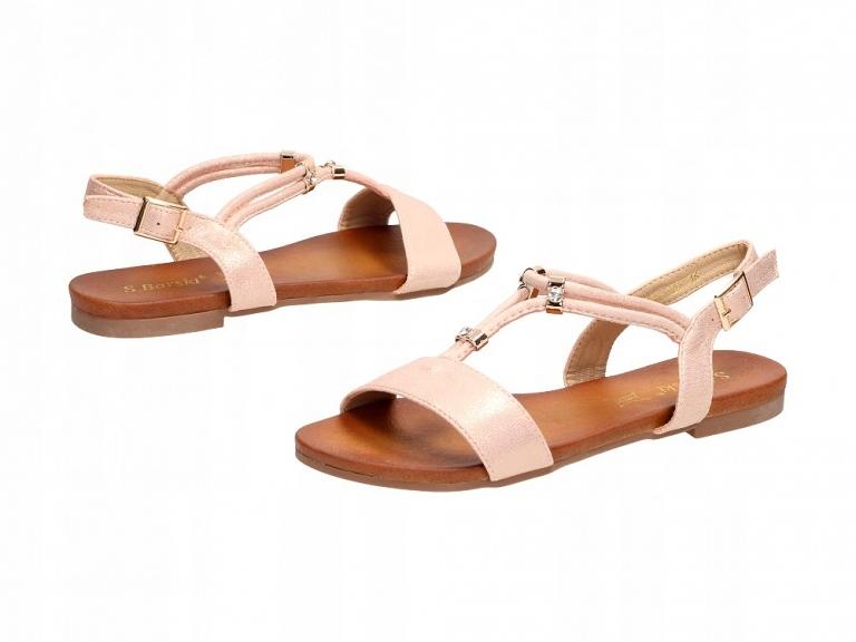 Różowe sandały damskie S.BARSKI 541 120 r38