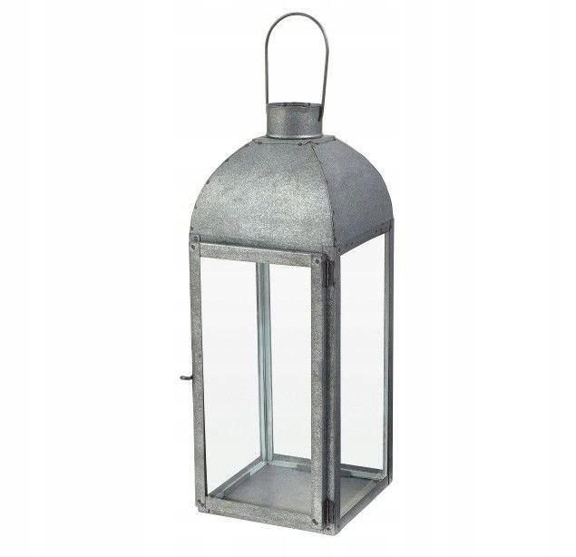 Latarnia ogrodowa latarenka 42x15x16 lampion stal
