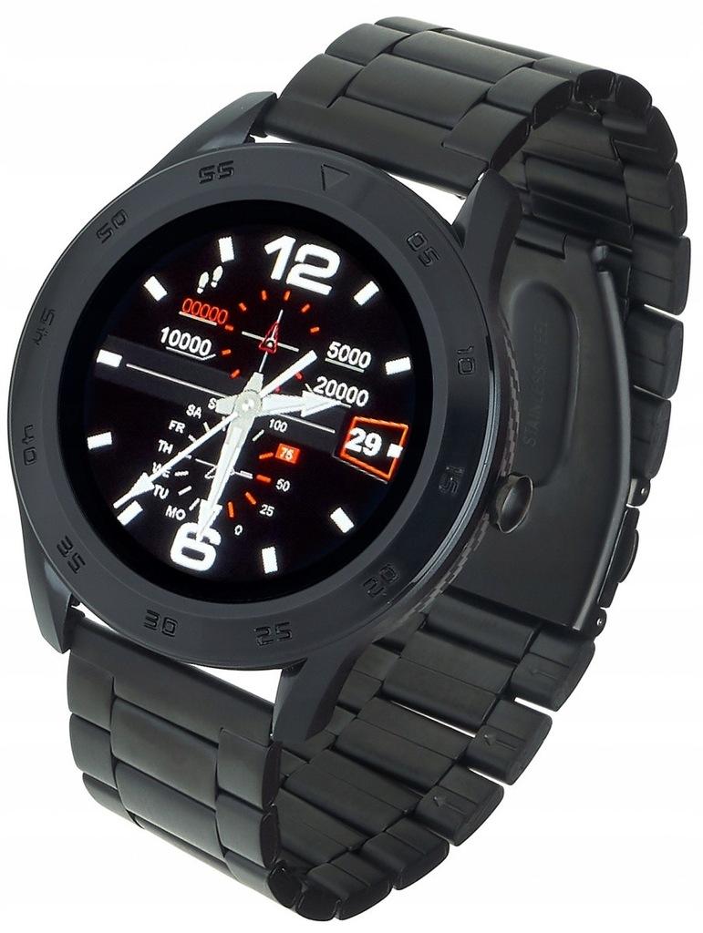 GARETT ELECTRONICS Smartwatch GT22S Czarny Stalowy