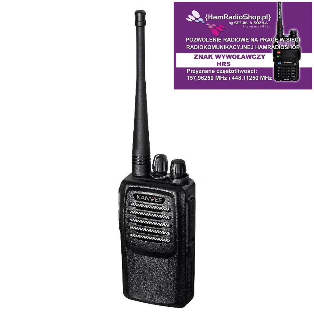 Kanwee TK-928 (157MHz)+ pozwolenie radiowe -SP7UKL