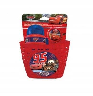 Koszyk + bidon + dzwonek Cars Disney dla dzieci