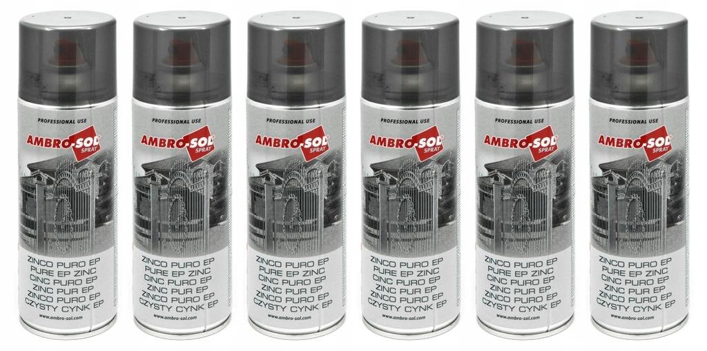Cynk czysty EP 400ml AMBRO SOL spray 6 sztuk