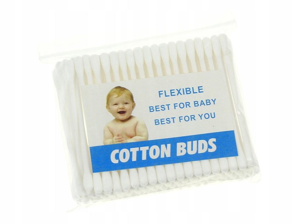 Patyczki higieniczne bawełniane do uszu 100 szt.