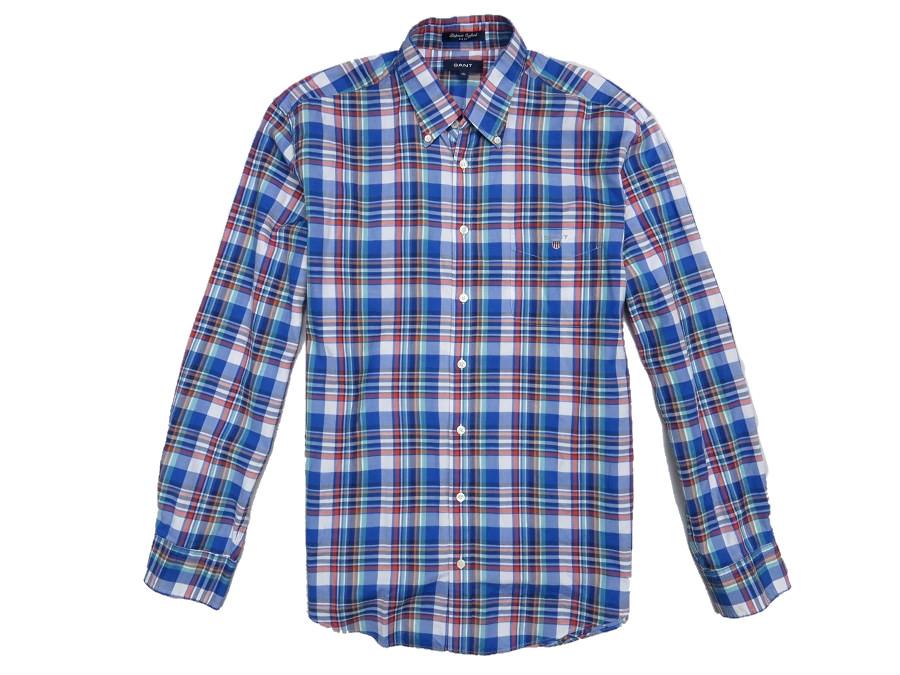GANT koszula oxford kratka slim fit XL